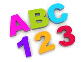 ABC - one two three. — Stock Photo