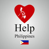 Help Philippines — Stock Photo