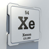 Xenon symbol — Stock Photo