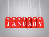 January promotions. — Stock Photo