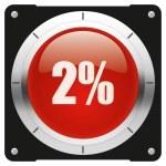 2 percent — Stock Photo