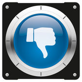 Dislike blue button — Stock Photo