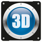 3D button — Stock Photo