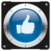Like blue button — Stock Photo