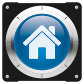 Home blue icon — Stock Photo
