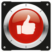 Like red button — Stock Photo
