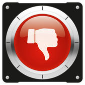 Dislike red icon — Stock Photo
