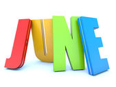 June - calendar month — Stock Photo