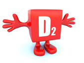 D2 vitamin — Stock Photo