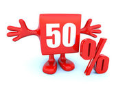 50 Percent off discount — Stock Photo