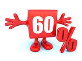 60 Percent off discount — Stock Photo
