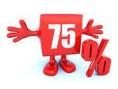 75 Percent off discount — Stock Photo