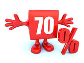 70 Percent off discount — Stock Photo