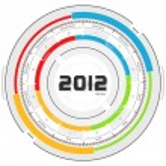 2012 calendar — Stock Photo #7427263