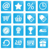 Business, e-commerce, web and shopping icons set in modern style — Stock Vector
