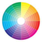 Color spectrum abstract wheel, colorful diagram background — Stock Vector