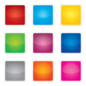 Price, promotion or bestseller vector blank stickers with different colors — Stock Vector