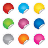 Price, promotion or bestseller vector blank stickers with different colors — Vetorial Stock