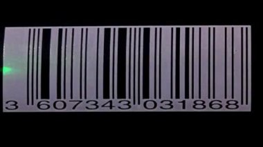 Scanning a bar code — Stock Video