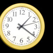 Yellow clock — Stock Video #13393270