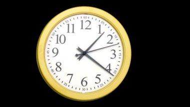 Yellow clock — Stock Video
