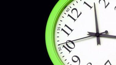 Green Clock — Stock Video