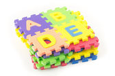 Alphabet puzzle pieces — 图库照片