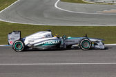 Mercedes AMG Petronas F1 Team - Lewis Hamilton - 2013 — Stock Photo