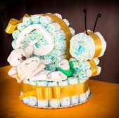 Diaper snail cake — Stock Photo