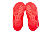 Red rubber shoes — Stock Photo