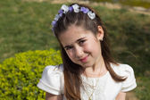 Young girl in her First Communion — Stock Photo