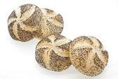 Poppyseed Vienna bread rolls — Stock Photo