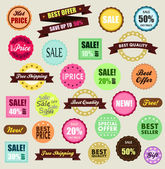 Tags of promotion and discount — Stock Vector