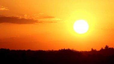 Aircraft at sunset — Stock Video