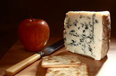 Roquefort and apple low angle — Stock Photo