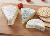 Three French Cheeses — Stock Photo