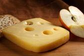 Jarlsberg cheese — Stock Photo