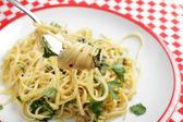 Chilli and garlic pasta — Stock Photo