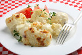Cauliflower cheese on a plate — Stock Photo