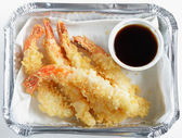 Prawn tempura high angle — Stock Photo