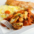 Jalfrezi fork and plate — Stock Photo