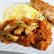 Chicken jalfrezi plate — Stock Photo