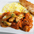 Stock Photo: Chicken jalfrezi plate