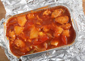 Chicken sweet and sour from above — Stock Photo