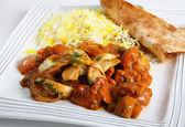 Chicken jalfrezi plate — Stock Photo