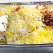 Pilau rice takeaway — Stock Photo