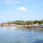 Aegina beach and boatyard — Stock Photo #15631945