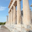 Doric columns at Temple of Aphaia — Stock Photo