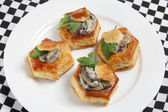 Plate of vol au vennts high angle — Stock Photo