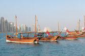 Qatar dhows on show — Stock Photo